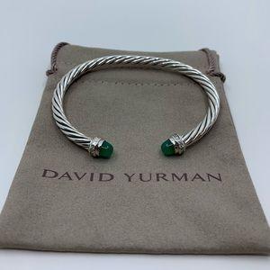 David Yurman Green Onyx & Diamonds 5mm Cable